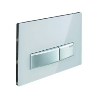 Geberit Sigma50 Green Glass Satinised Dual Flush Plate - 115.788.SE.5